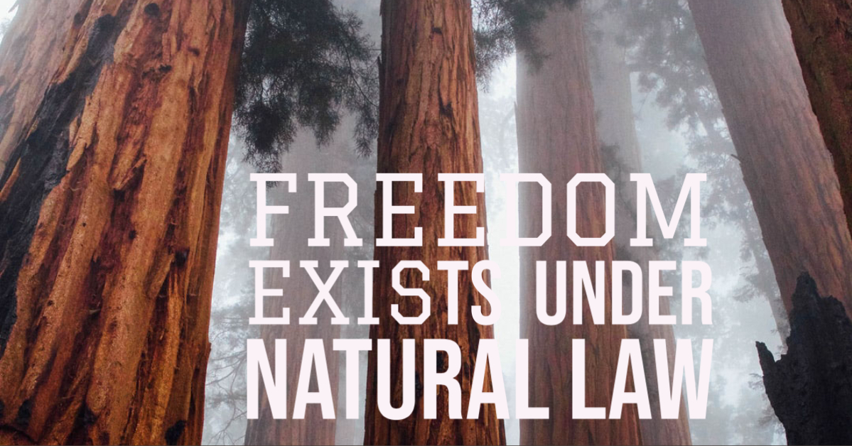 Freedom Exists Under Natural Law Nature Of Healing